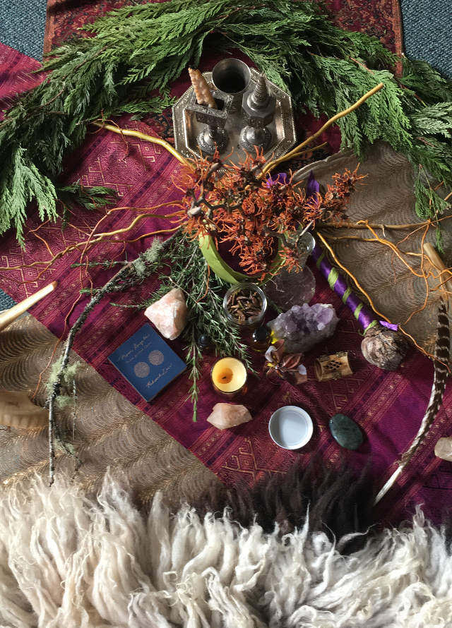 "Altar from, ""Earth / Assiyah , Embodying the Tree of Life"" workshop."
