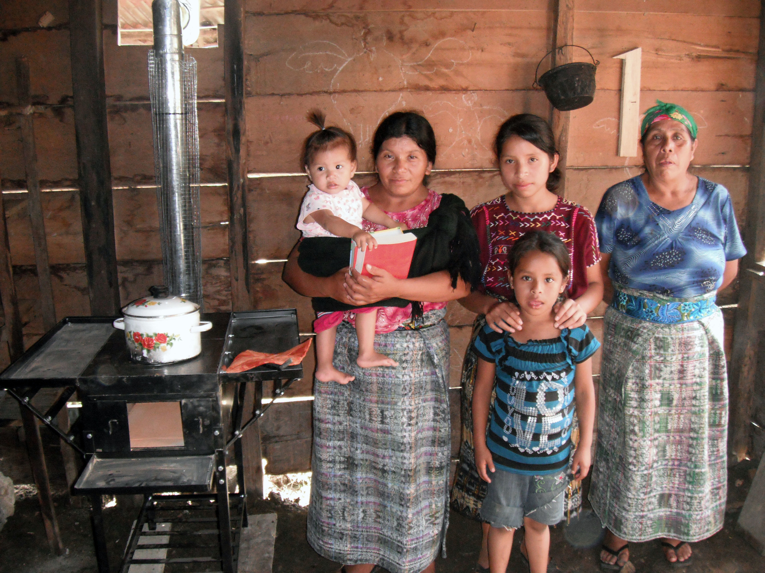 Family Receives New Stove