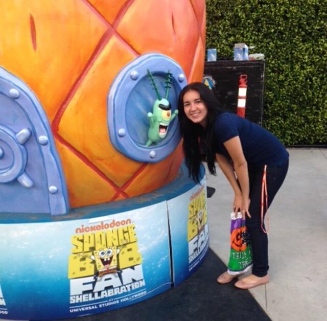 Nancy with Spongebob's Pineapple House