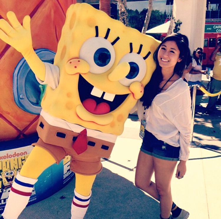 Bettina with Spongebob SquarePants