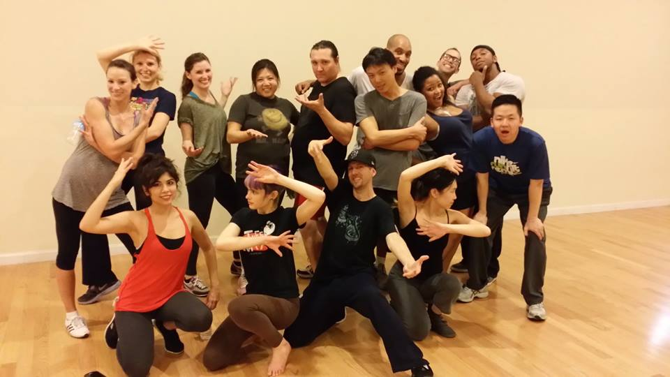 CJ's first dance class teaching for Nickelodeon University Classes