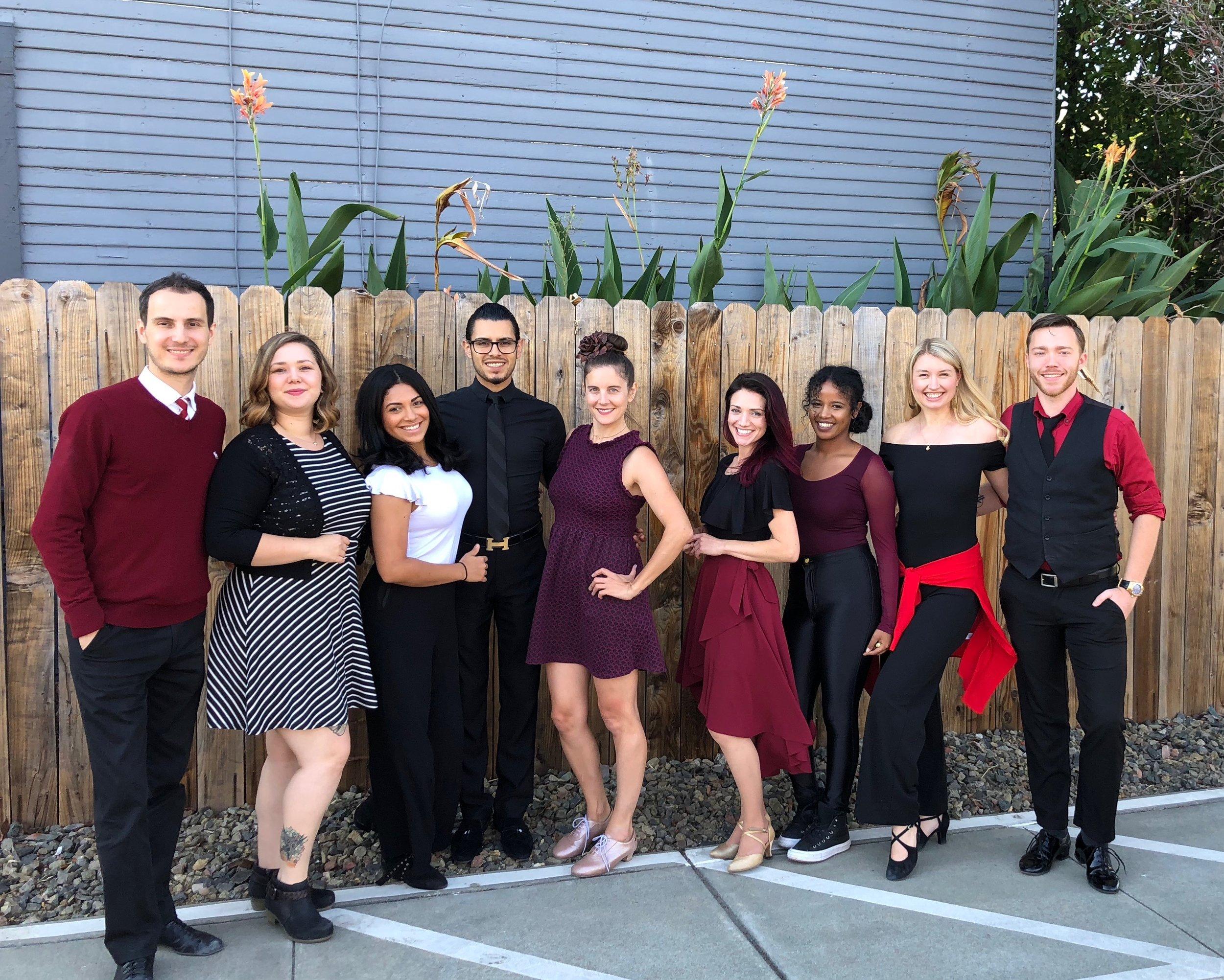 From left to right: Dmitri, Jessica, Isamar, Rafael, Cara, Jenny, Danaite, Alexandra, Spencer