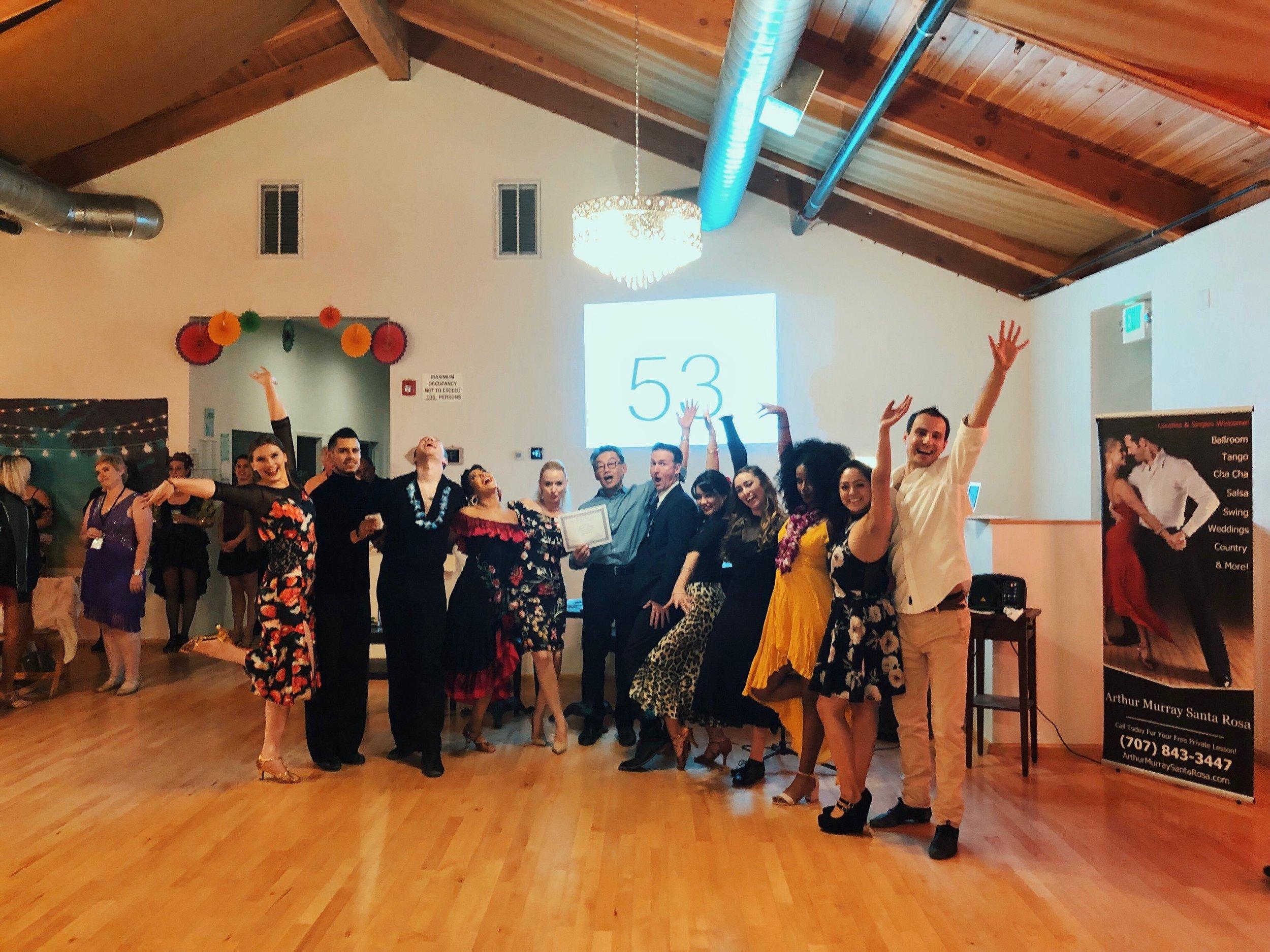 Graduation Celebrations- Arthur Murray Santa Rosa Havana Nights Medal Ball