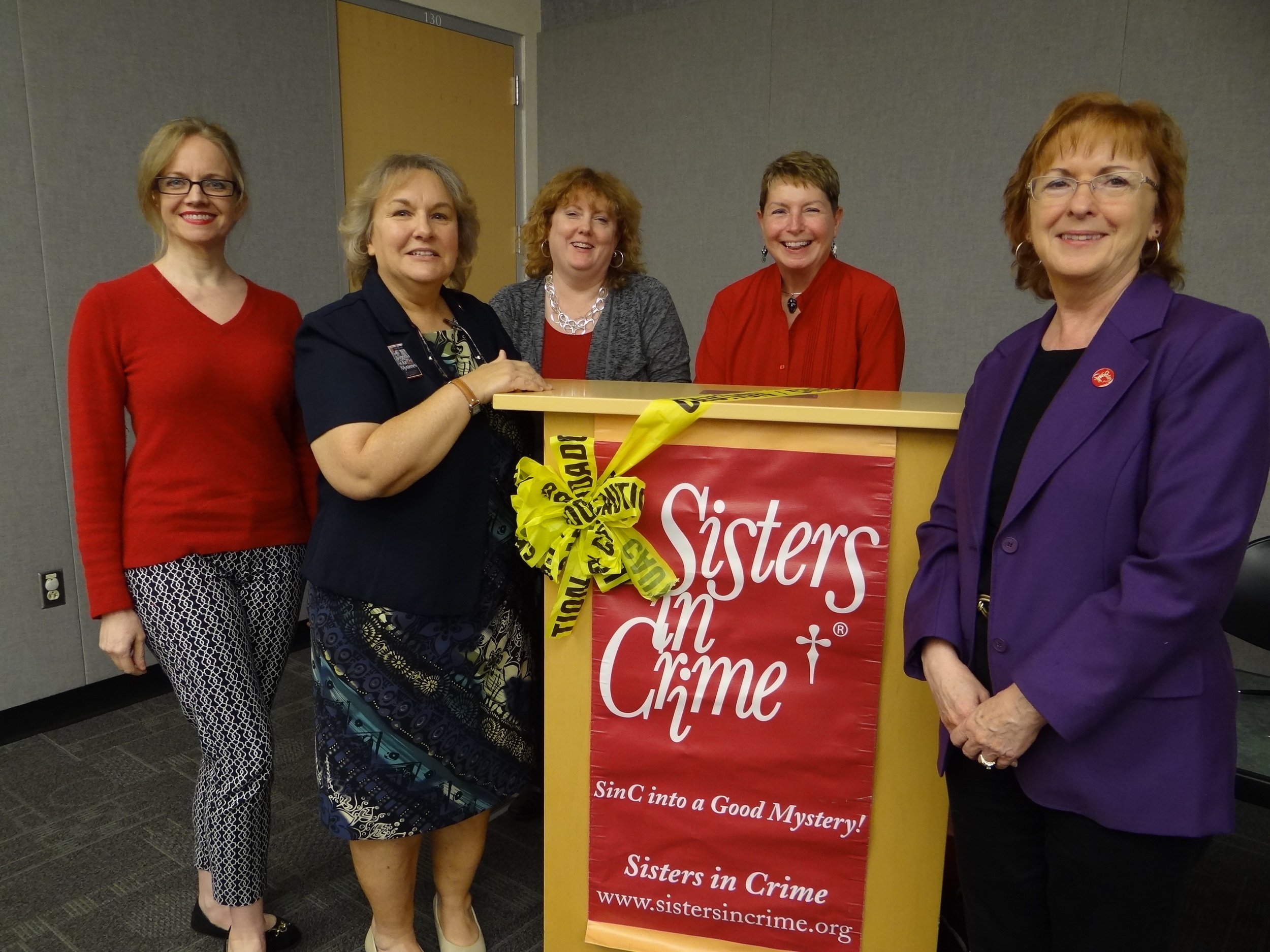 L-R: Fiona Quinn, Rosemary Shomaker, Heather Weidner, Vivian Lawry, and Maggie King