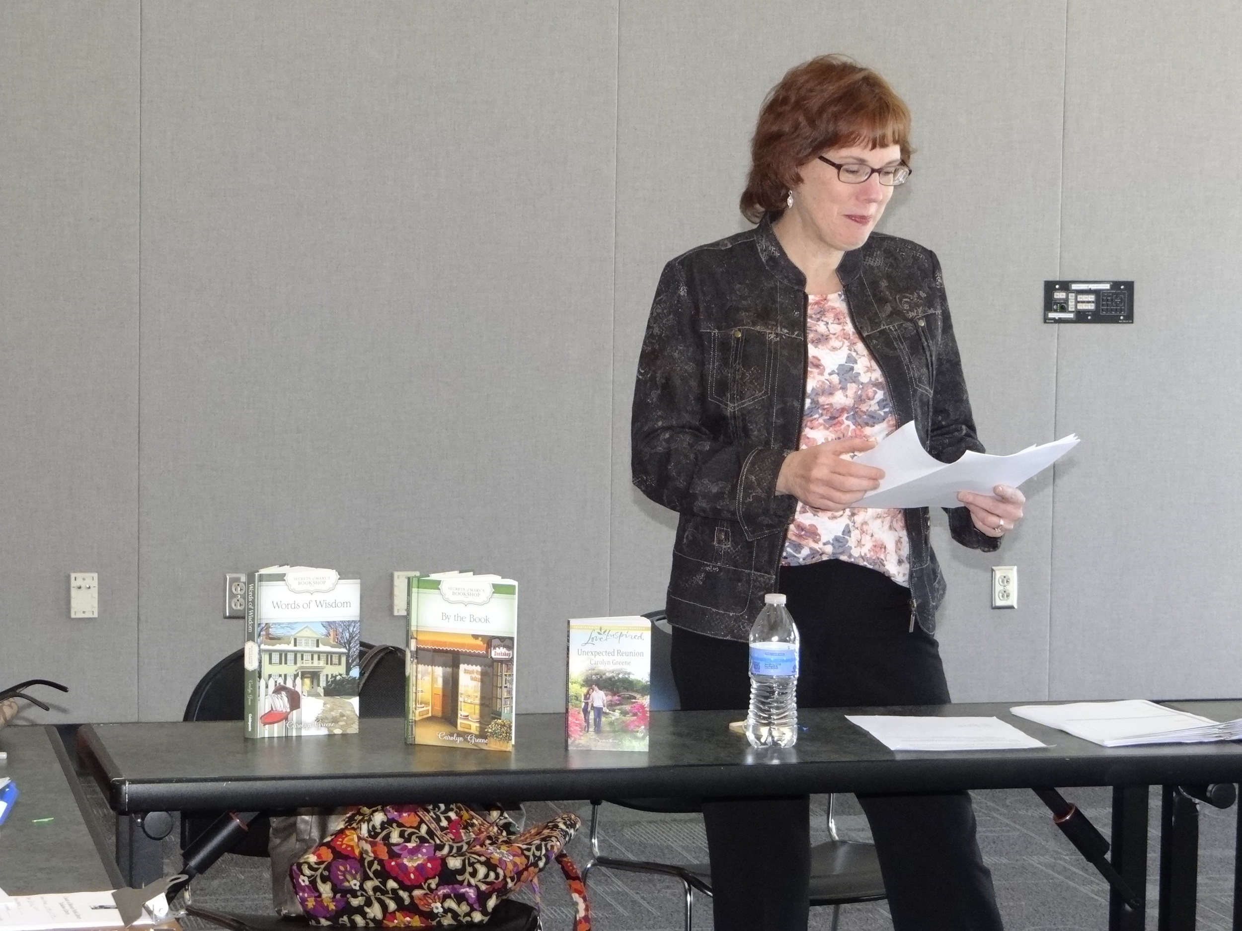 Author Carolyn Greene, The Plot Doctor