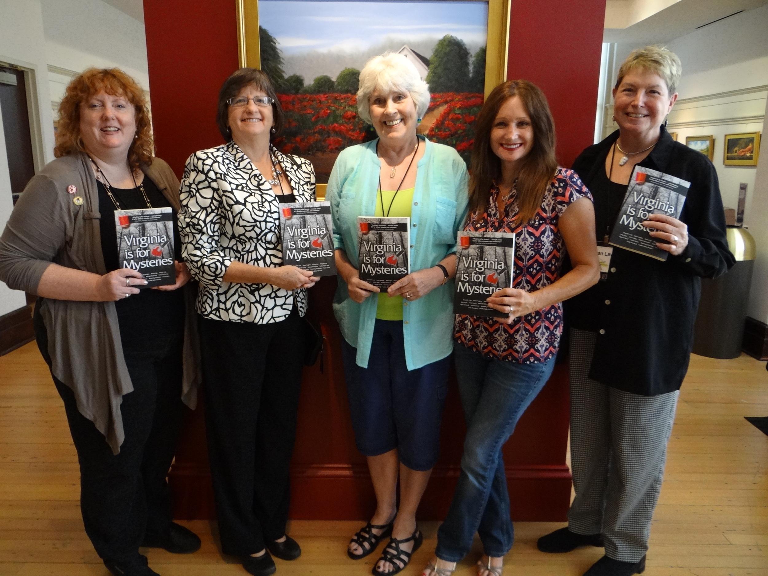 l-r: Heather Weidner, Jayne Ormerod, Maria Hudgins, Teresa Inge, and Vivian Lawry
