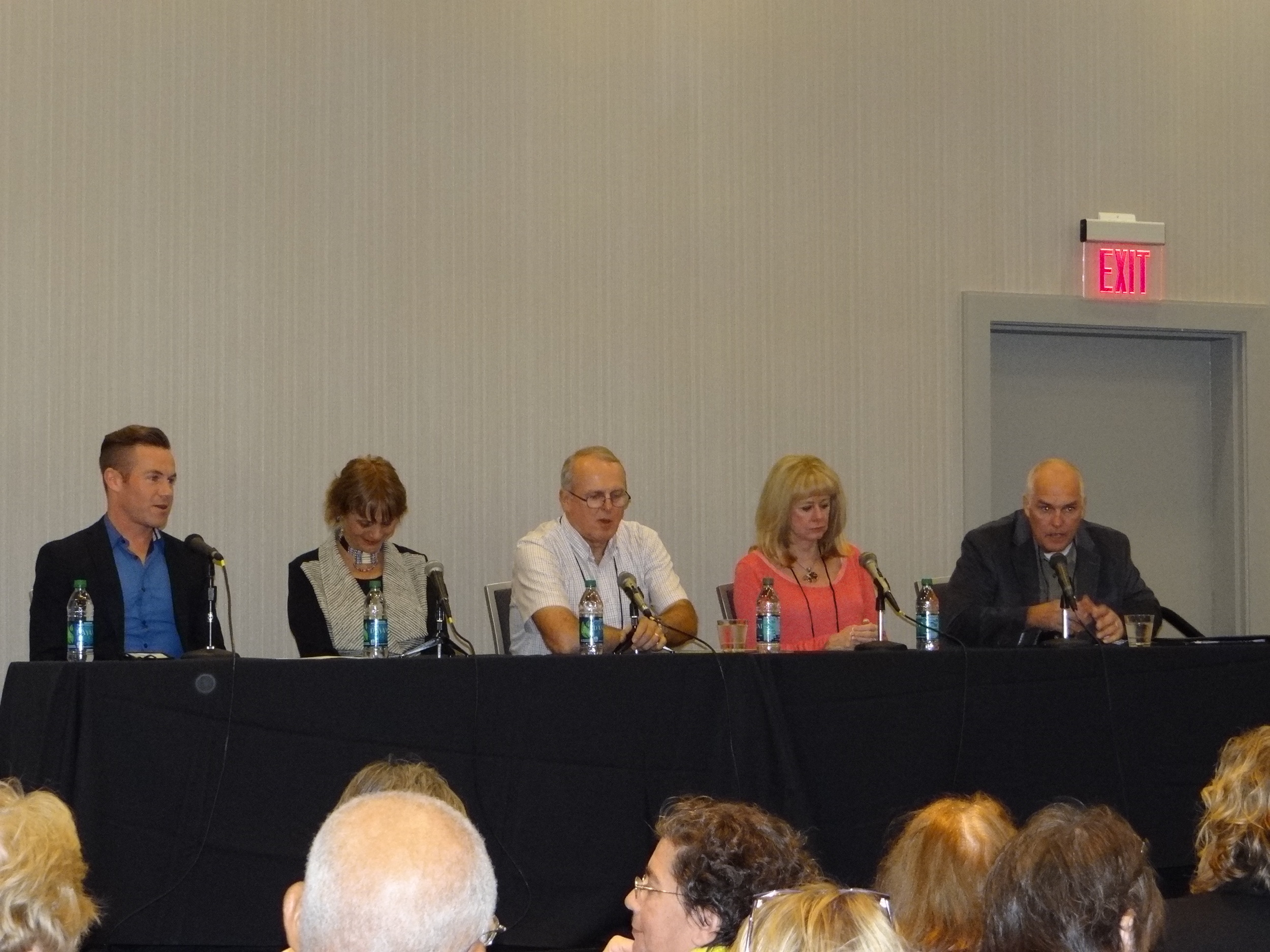 l-r: Ryan Quinn, Anne Hillerman, Alex Letrau, Kathy Reichs, and Neal Griffin