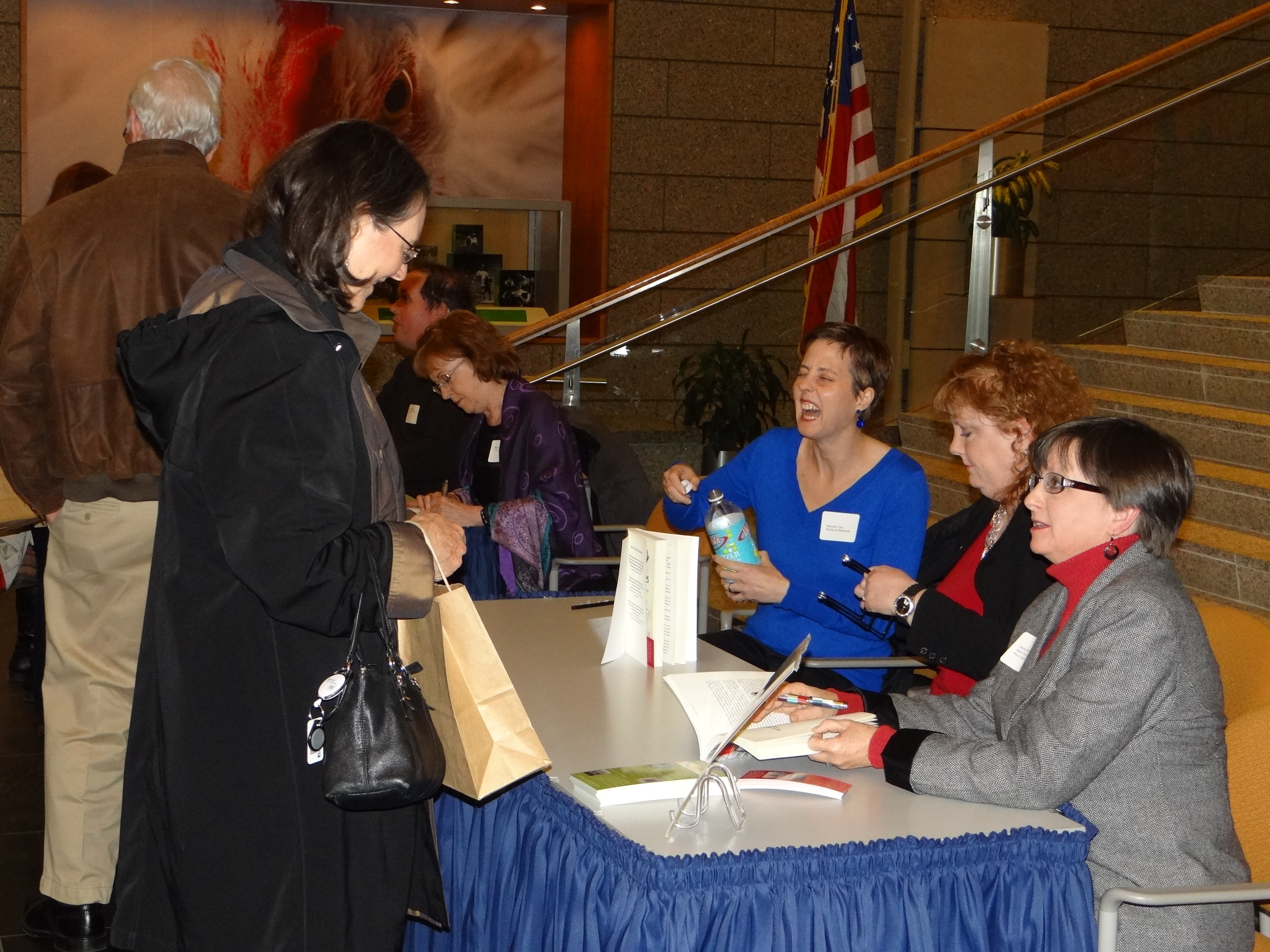 Meredith Cole, Me, and Jayne Ormerod at the Library of Virginia in Richmond, VA
