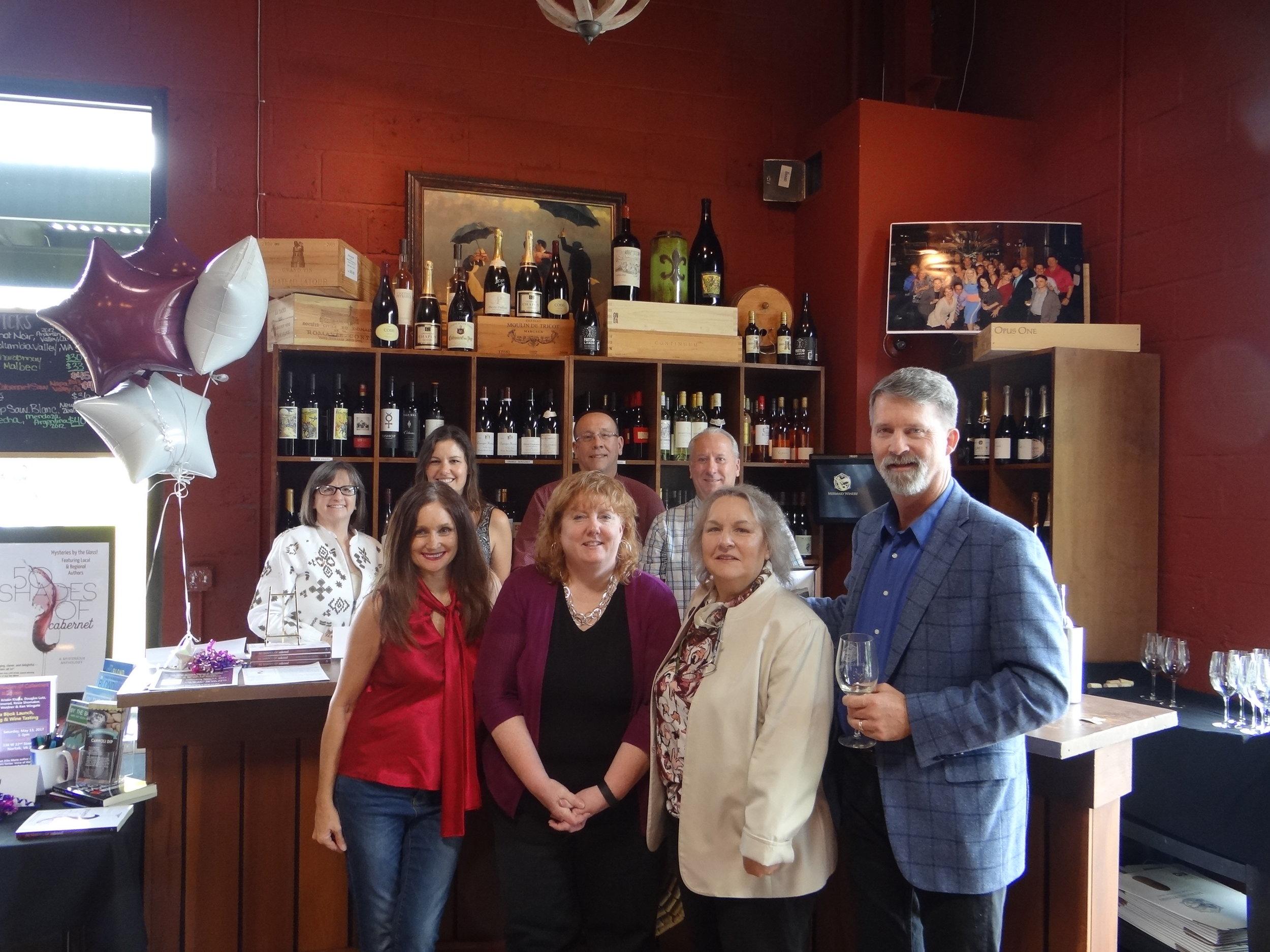 Back Row l-r: Jayne Ormerod, Kristin Kisska, DJ Lutz, Ken Wingate Front Row l-r: Teresa Inge, me, Rosemary Shomaker, and John Koehler