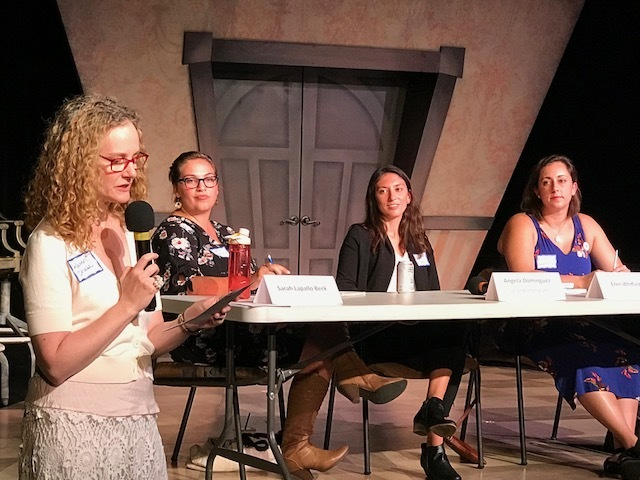 "l-r Karen Chase, Sarah Lapallo Beck, Angela Dominguez, and Ellen Whitfield - James River Writers' ""The Writing Show"""