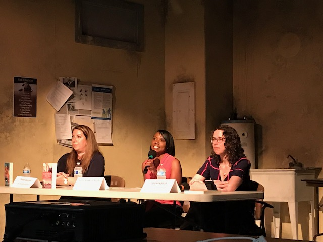 l-r: Chanel Cleeton, Stacy Hawkins Adams, and Jane Friedman at the JRW Writing Show