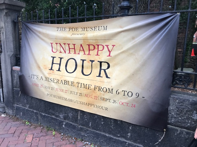 The Unhappy Hour at the Poe Museum in Richmond, VA