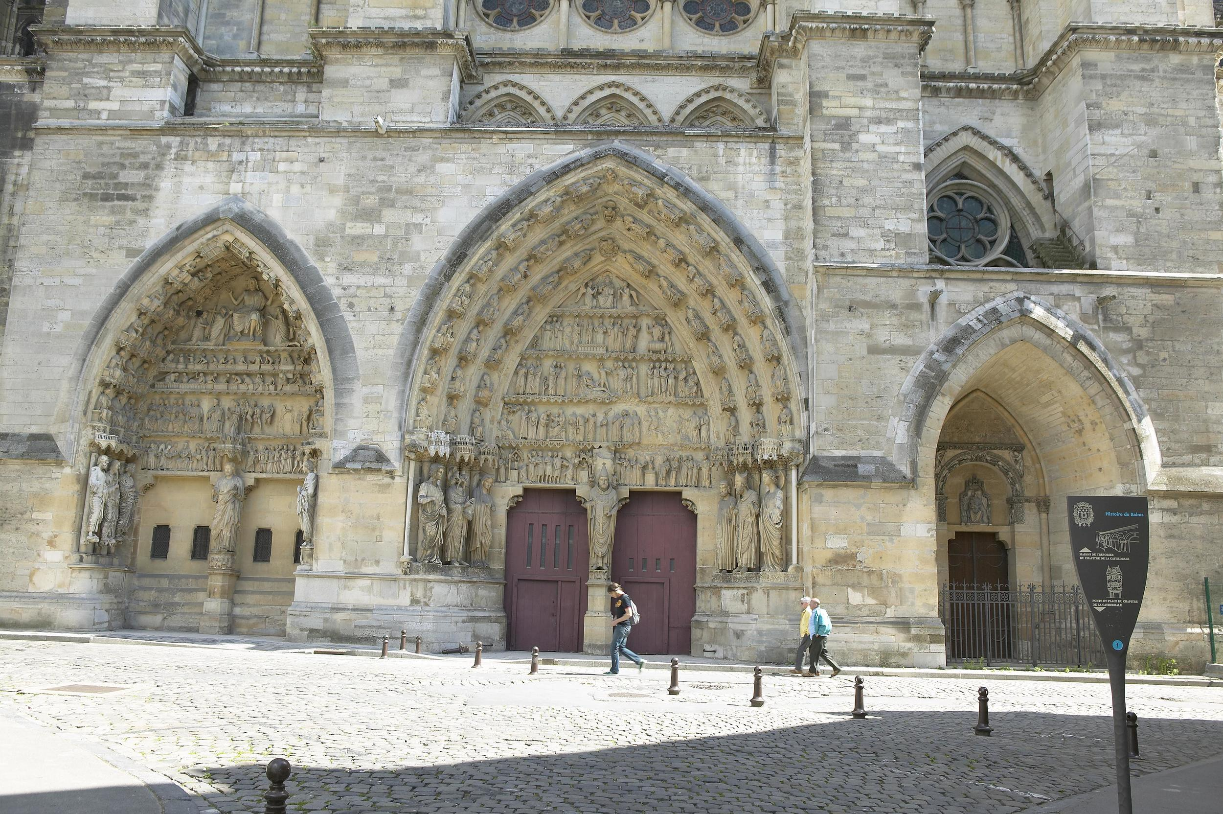 The North Transept Facade, Reims Cathedral