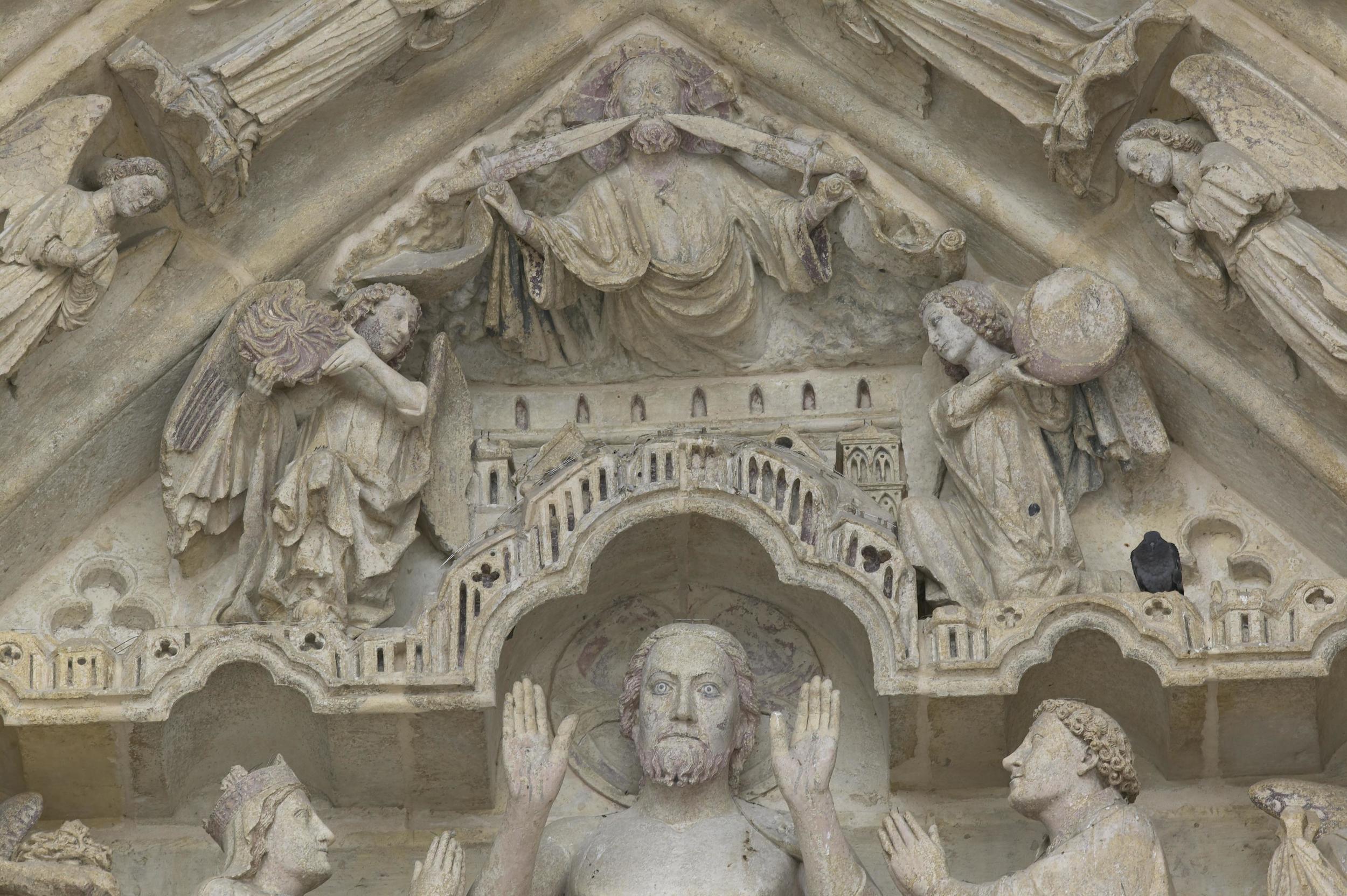 Christ in Judgement, Tympanum