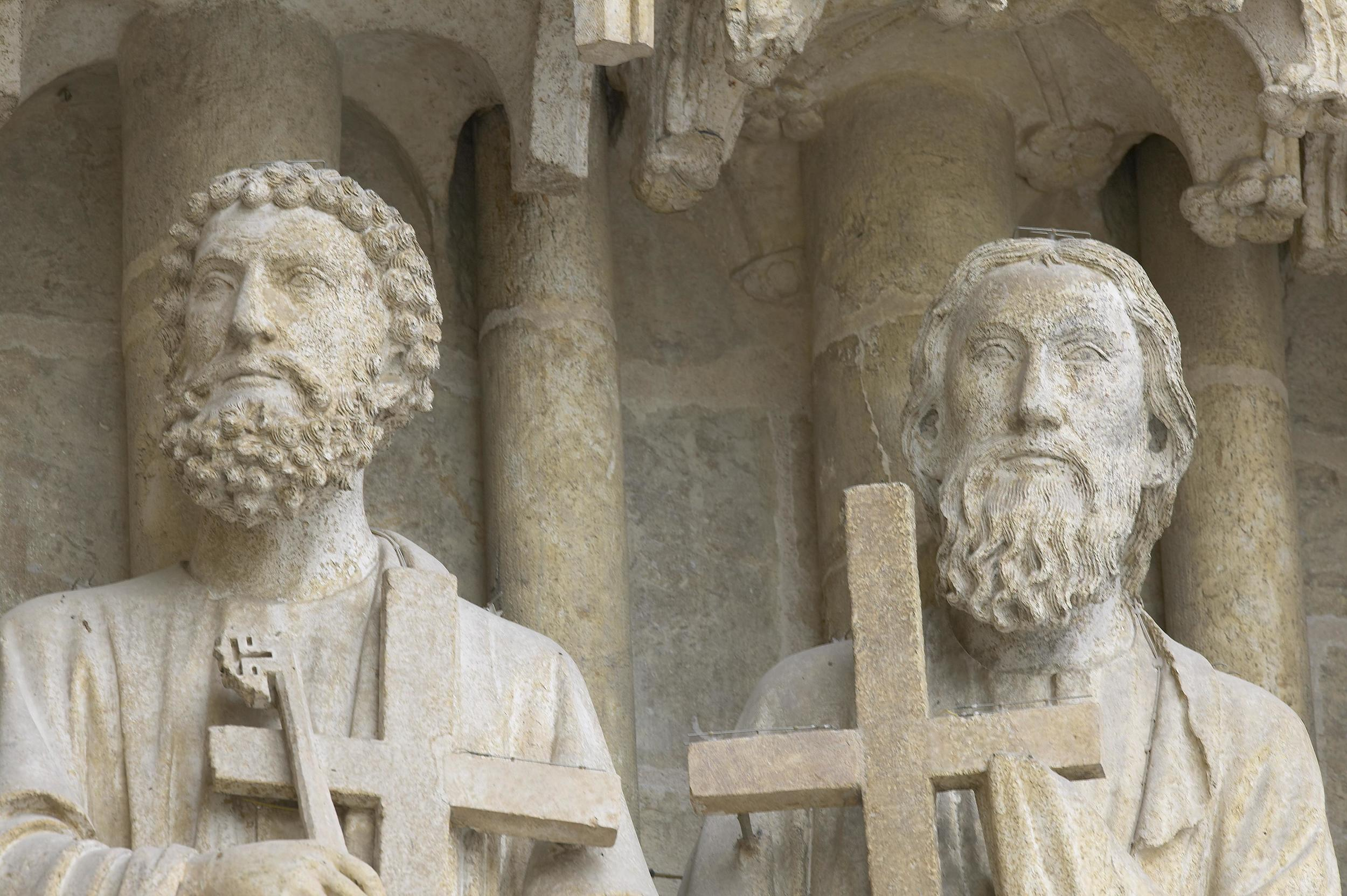 Jamb Figures: Apostles Peter and Andrew