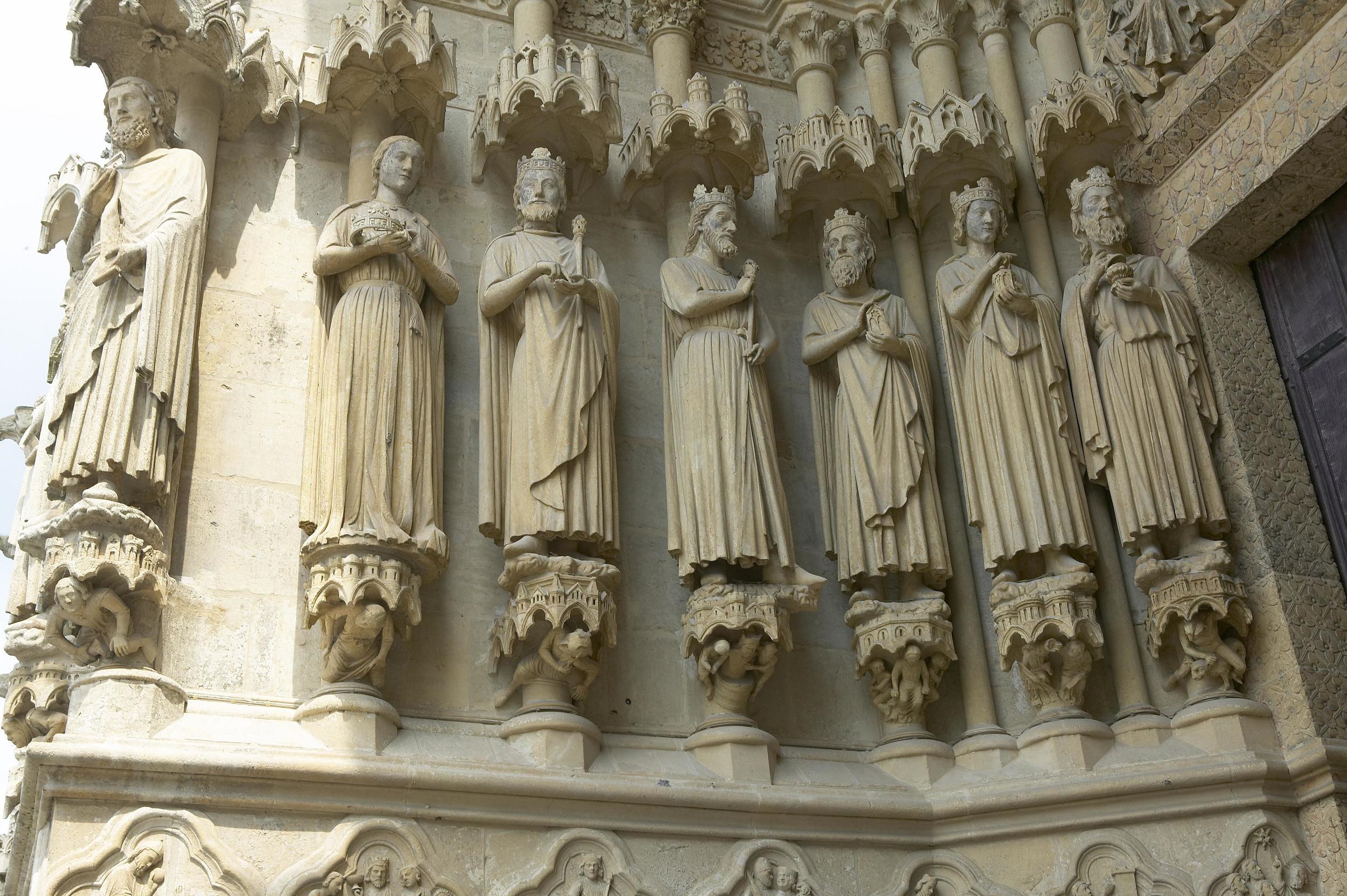 Jamb Figures: The Three Magi, Herod, Solomon, and Sheba
