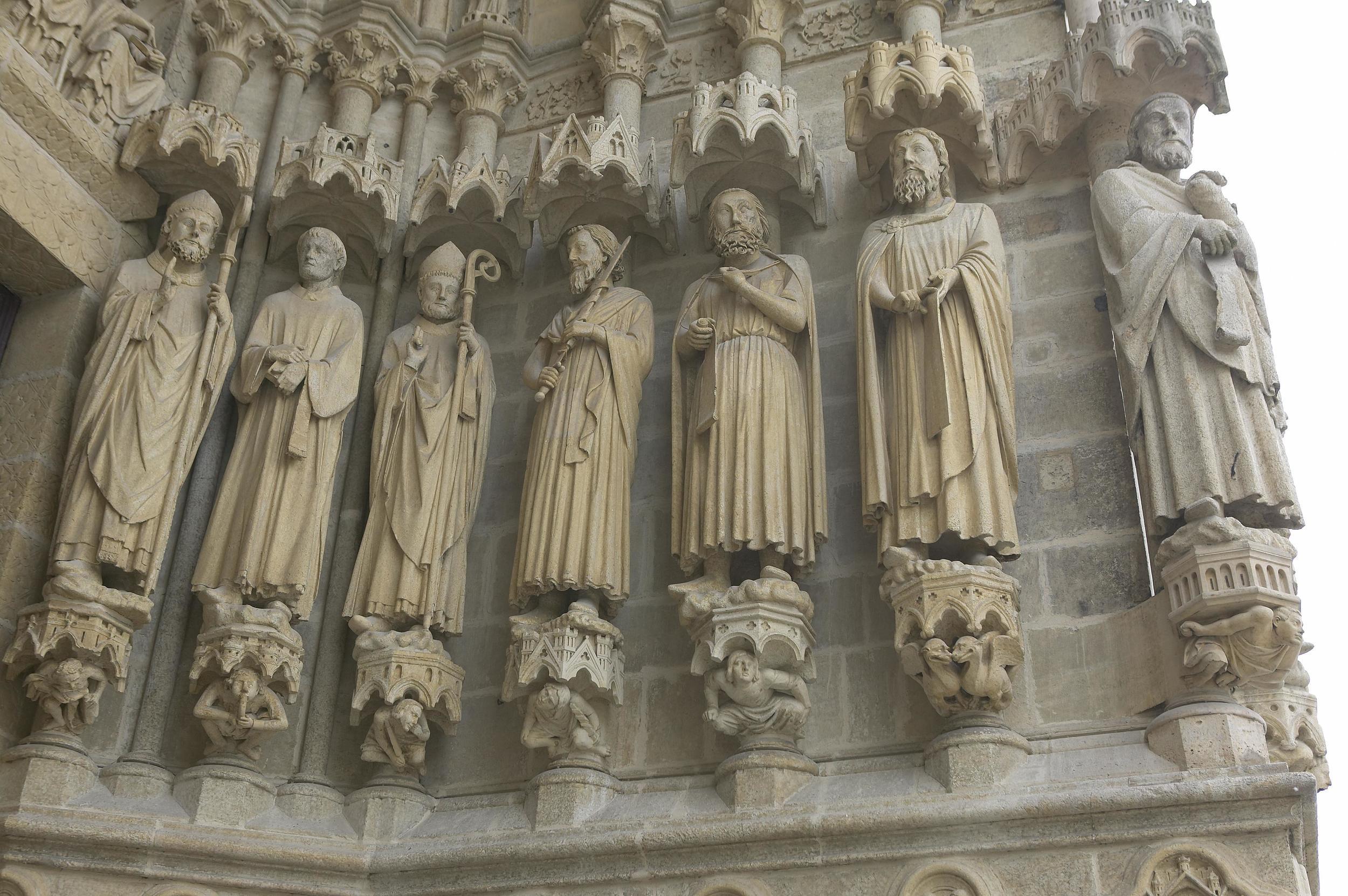 Jamb Figures: Saint Firmin, Saint Domice, Saint Sauve, Saint Fuscien, Saint Warle and Saint Luxor