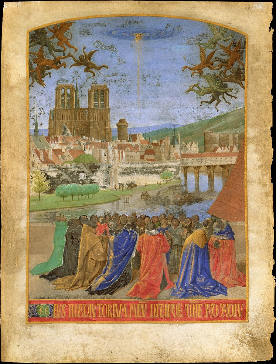 The Right Hand of God Protecting the Faithful against the Demons,ca. 1452–1460. Jean Fouquet (French, Tours ca. 1425–ca. 1478 Tours). The Metropolitan Museum of Art, New York. Robert Lehman Collection, 1975. 1975.1.2490.