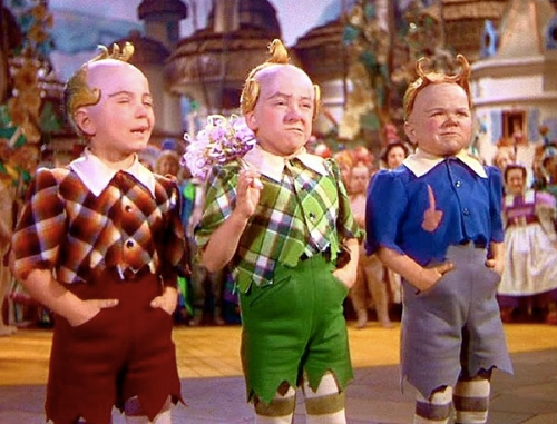 The Lollipop Kids were reportedly livid about losing their top spot in the munchkin musical trio power rankings.