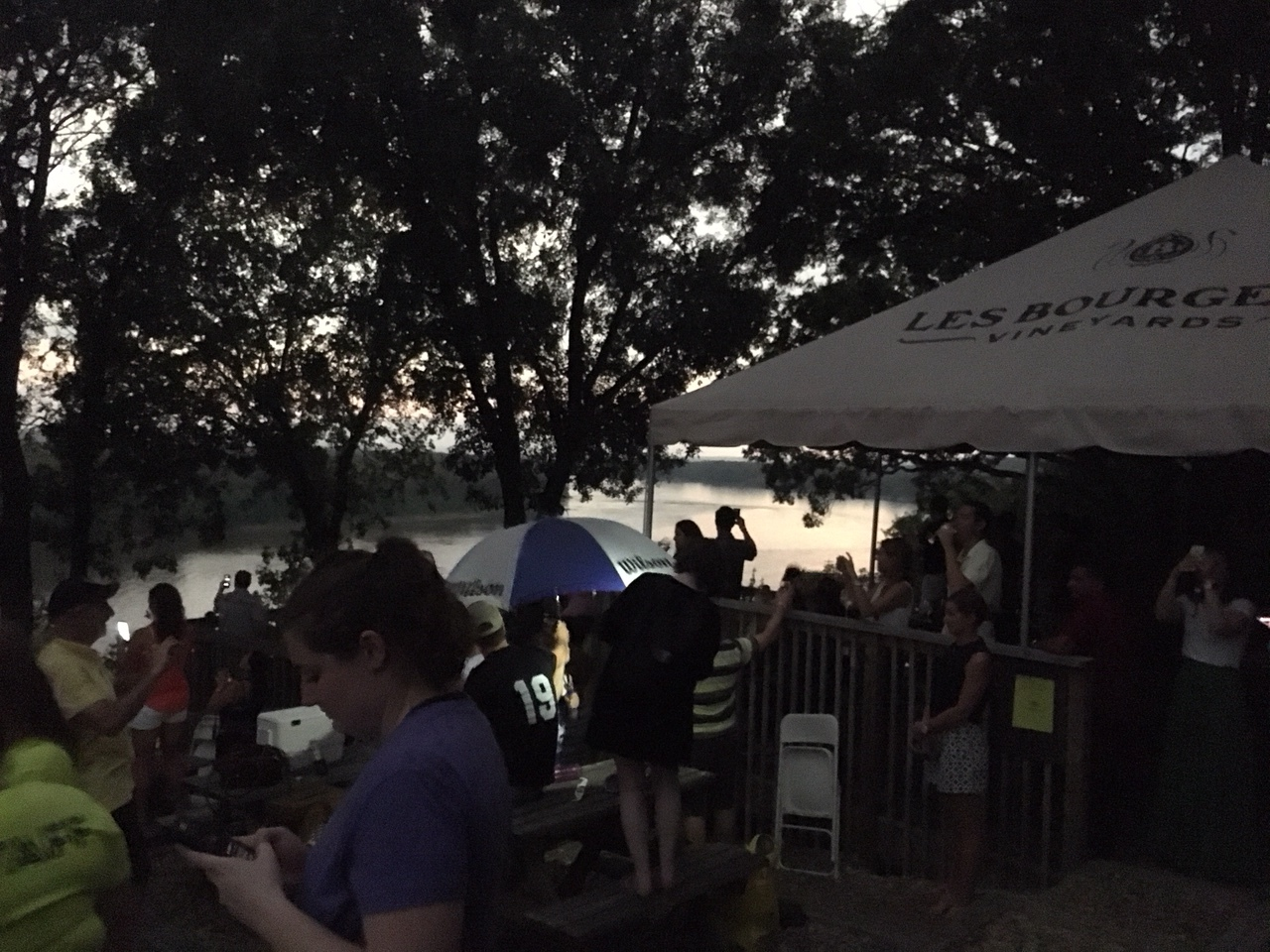 It got pretty dark! Because of the eclipse.
