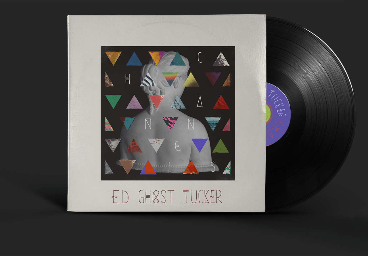 "I collaborated with the wonderful San Diego based band Ed Ghost Tucker for art for their latest EP ""Channels."""