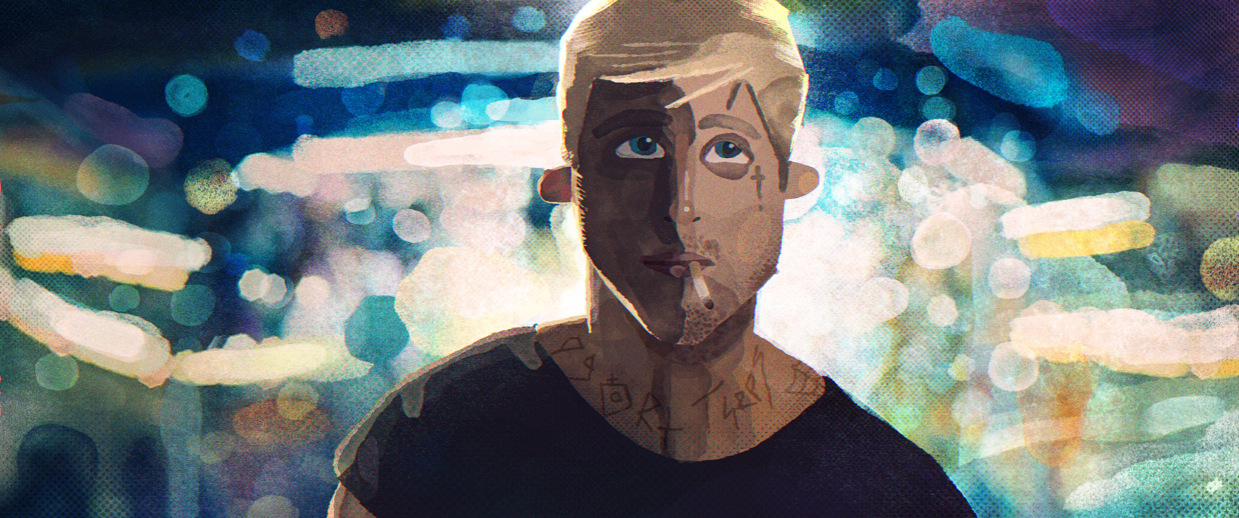 I loved the Place Beyond the Pines so much that I had to draw a scene from it.