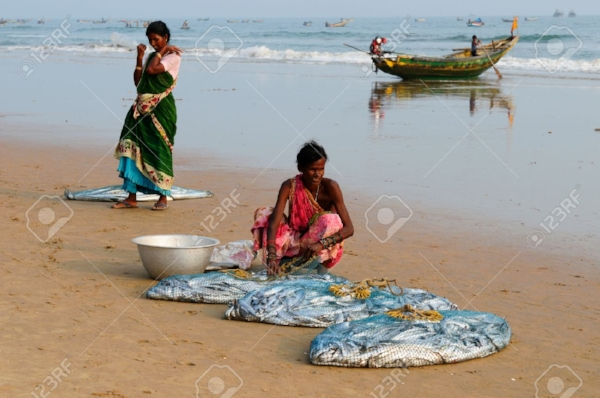 Puri women with fish