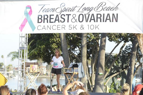 For the 3rd year in a row, Adrienne Slaughter was the Emcee & Keynote Speaker at the Team Spirit 10K/5K in Long Beach, CA, Sept. 27, 2015. This year's event raised over $200,000!