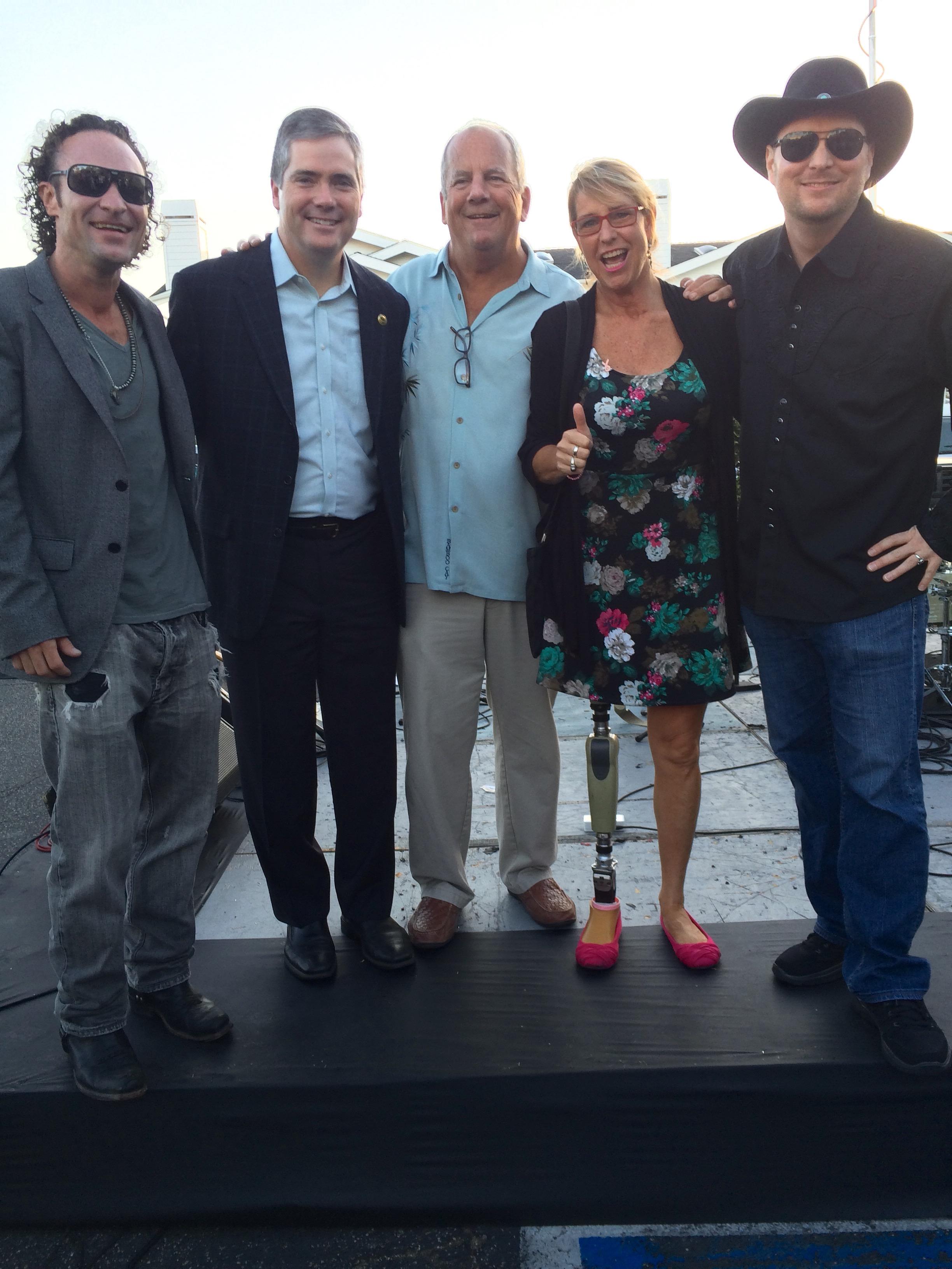 With Assemblyman David Hadley, Redondo Beach Mayor Aspel and Feed The Kitty Band members