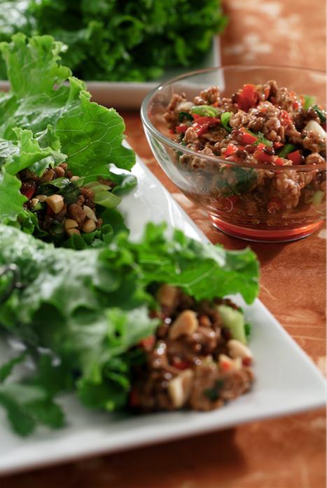 Hoisin Lentil Salad Wraps - easy to make and vegetarian!