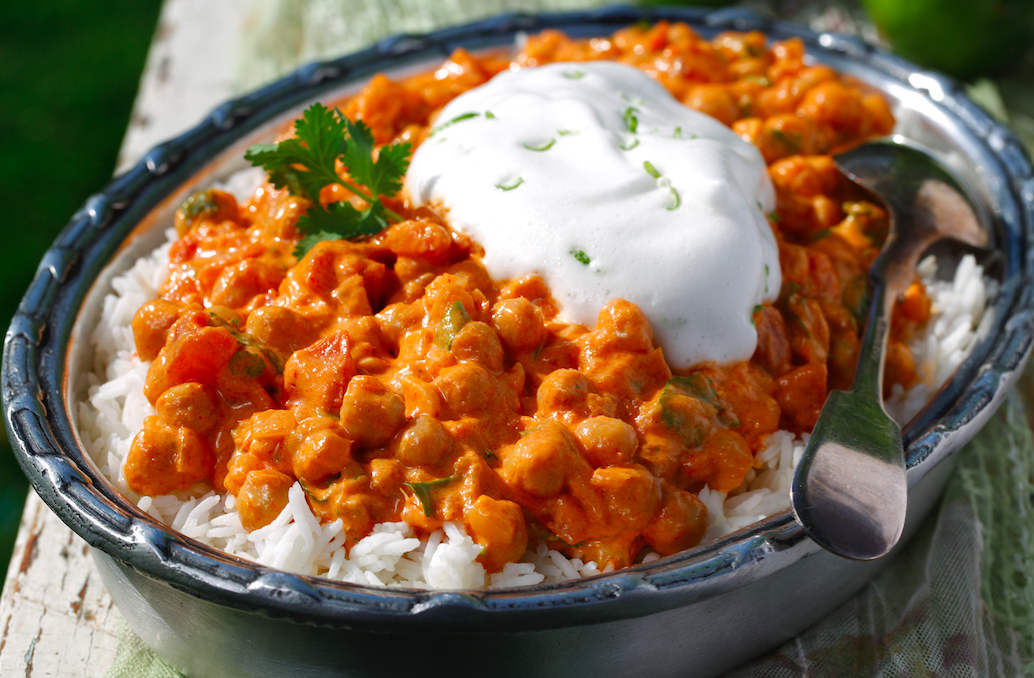 Thai Coconut Chickpea Curry - easy to make ahead of time