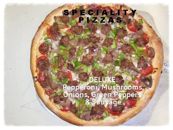Regular or Thin Crust:    Bite Size $6.00 Small $9.00 Medium $15.00 Large $20.00 Sheet $38.00    Deep Dish Crust :    Bite Size $6.50 Small $10.00 Medium $16.25 Large $21.50 Sheet $41.00