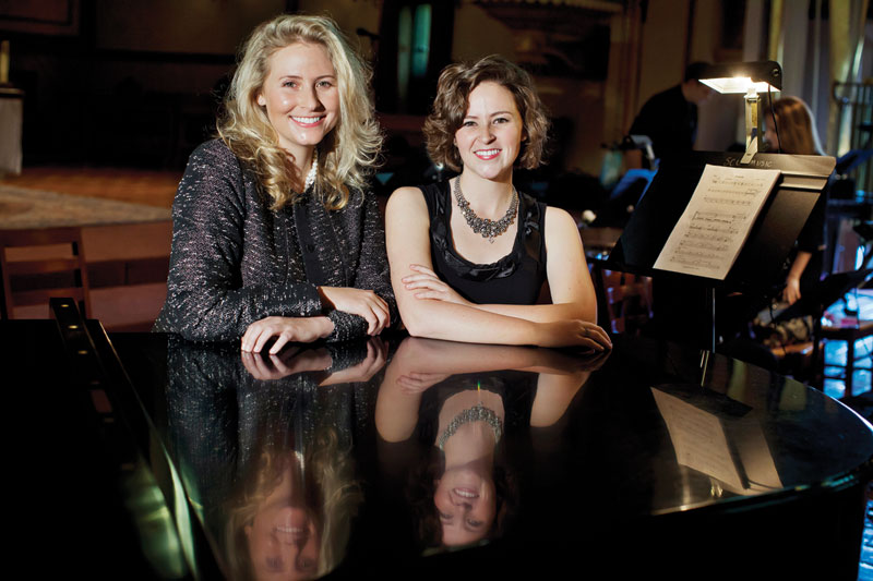Composer Leslie La Barre and conductor Elisse La Barre. Photo by Joanne Lee