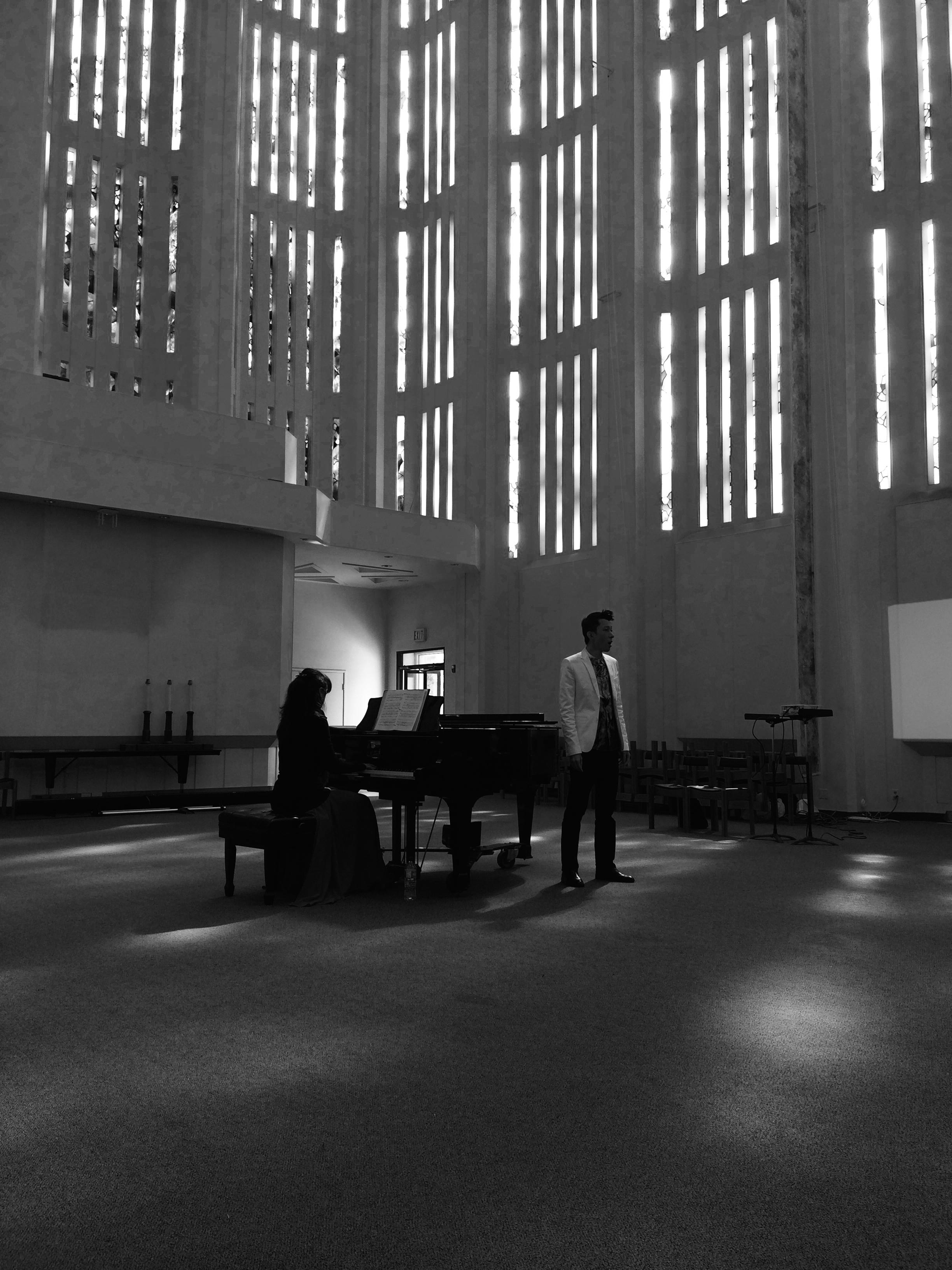 Kresge Chapel Performance. Photo by PL