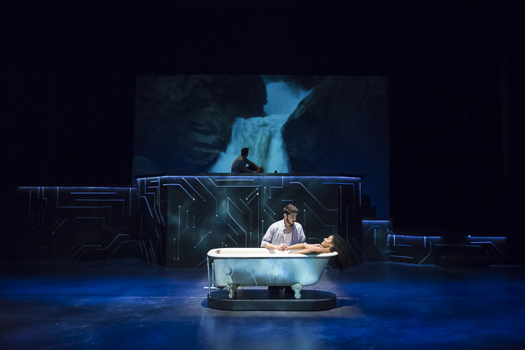 WATER BY THE SPOONFUL   A Pulitzer Prize winning play, this production, inspired by electronic jazz and the colorful world of the internet follows a family of crack addicts, ex-mothers, adjunct music professors, and sandwich-makers as they learn what it truly means to be connected.
