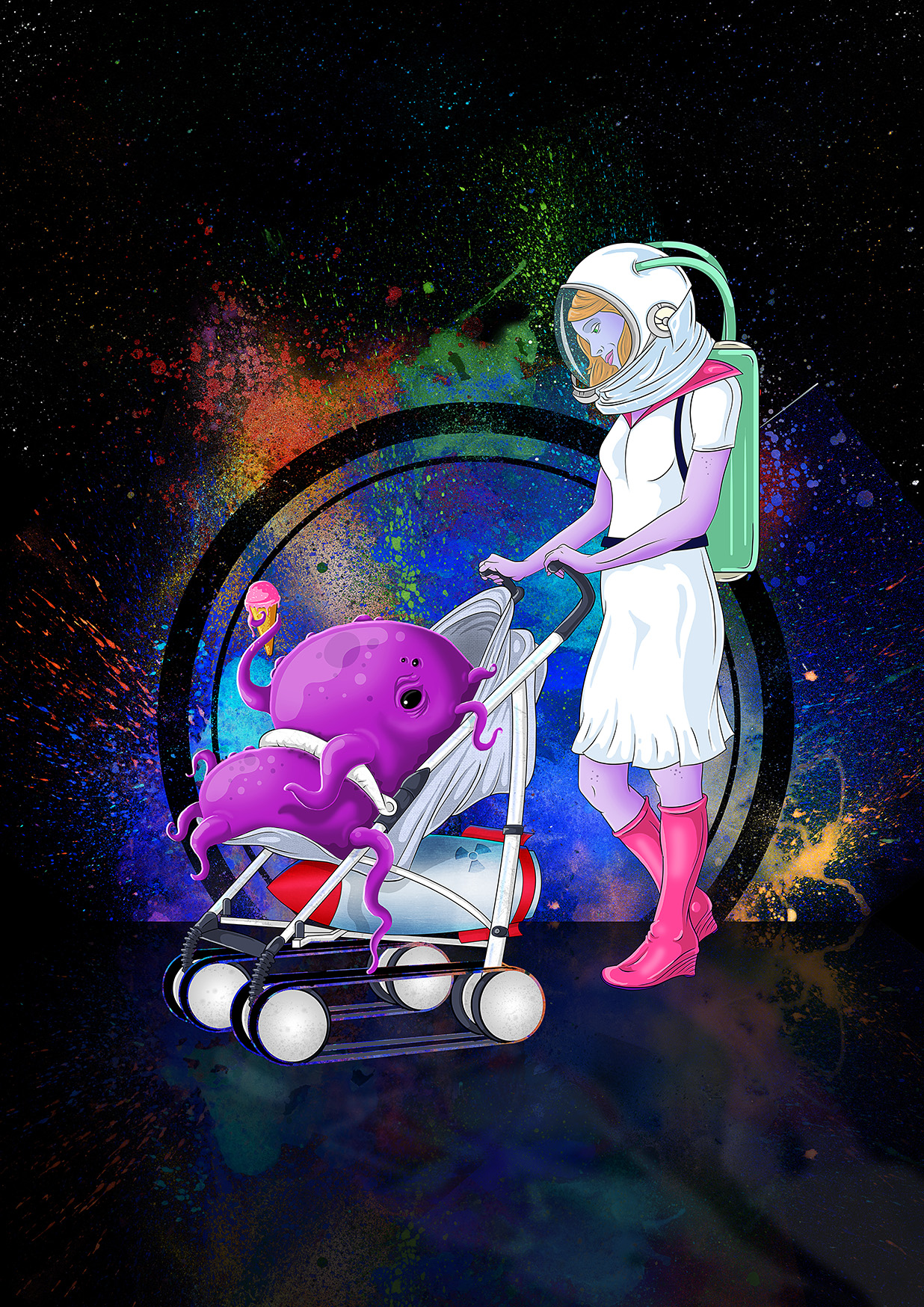 Digital art. Digital painting. Drawing. Illustration. Sci-Fi. Space art.
