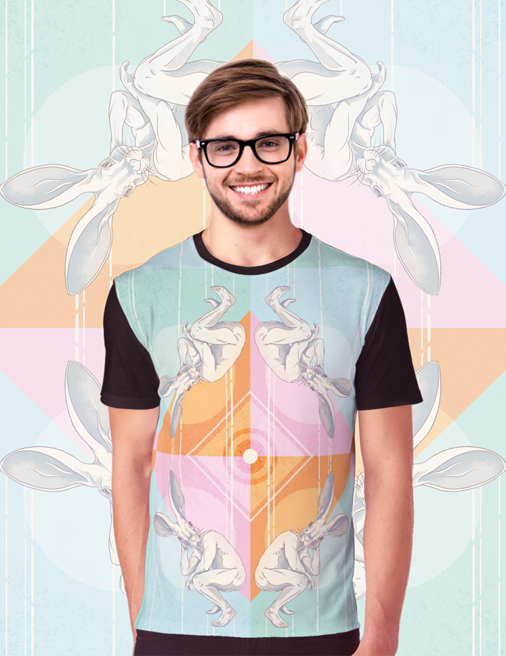 Rabbit Head pattern Tee.jpg