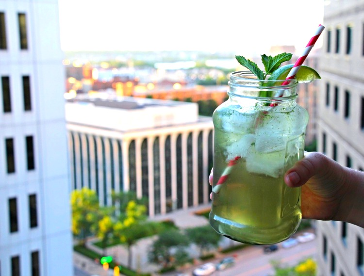 We like to top the drink off with Joia Natural Soda (and a killer view).