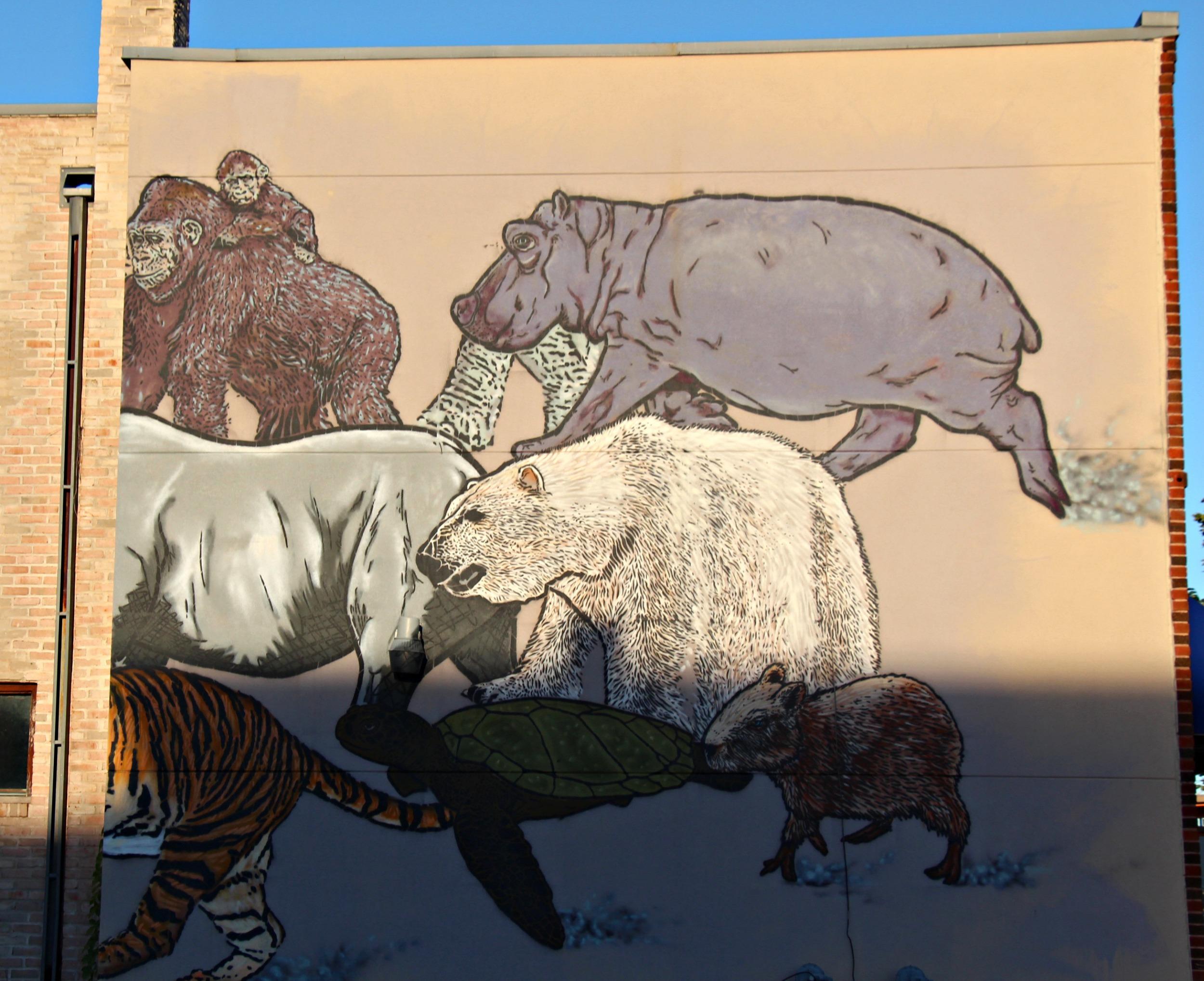 Broken Crow Mural on University Avenue St. Paul