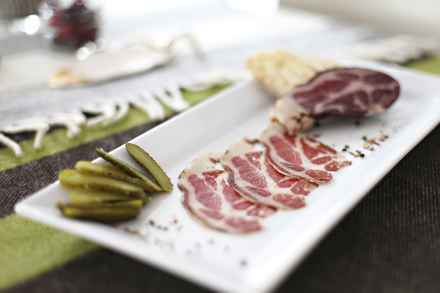 Launchedthis fall by Mike Phillips (formerly of The Craftsman),  Red Table Meat Co. sources meats from Minnesota and Wisconsin farms and operates out of NortheastMinneapolis. We tried the  Lonza (a supple, herby, peppery dry-cured pork loin)and the  Coppa  (a tasty dry-cured pork shoulder with hints of red pepper, juniper and coriander). We had zero leftovers.