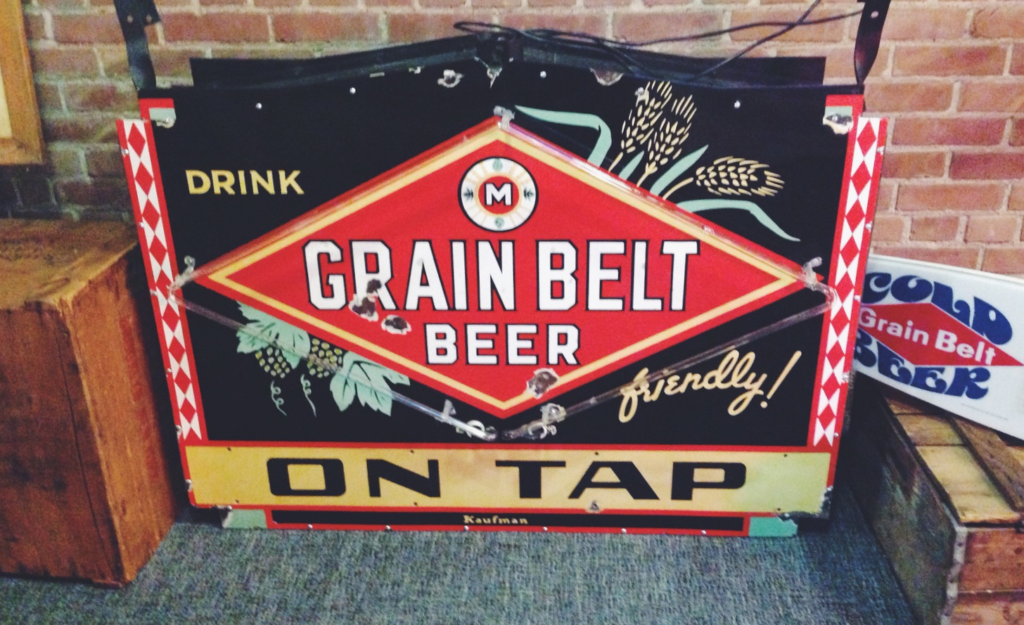 Old Grain Belt Beer Sign at Schell's Brewery in New Ulm, Minnesota
