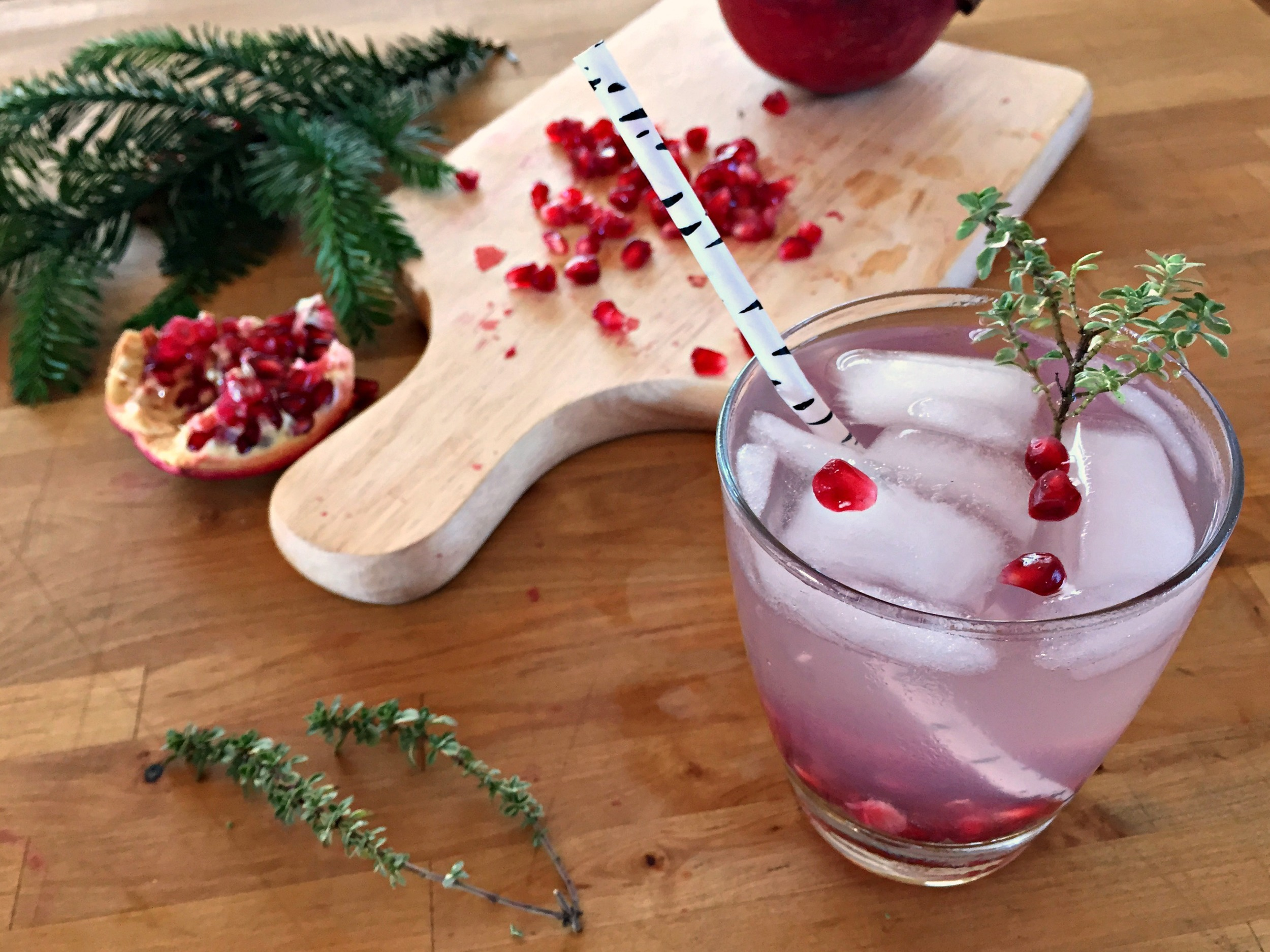 Pomegranate Thyme Cocktail