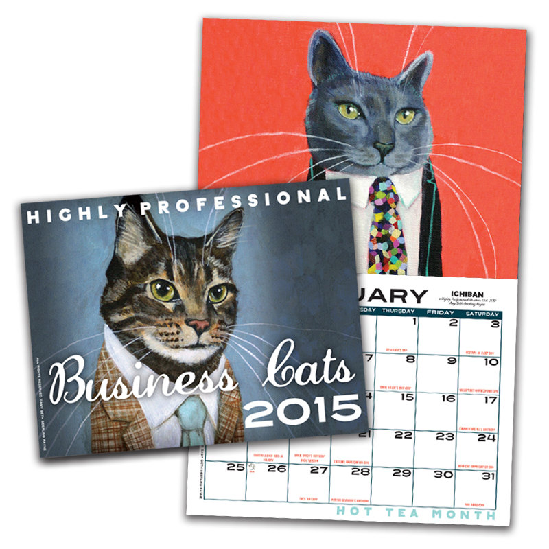 Business Cats Calendar (13 Midwest Made Calendars for 2015 - The Midwestival)