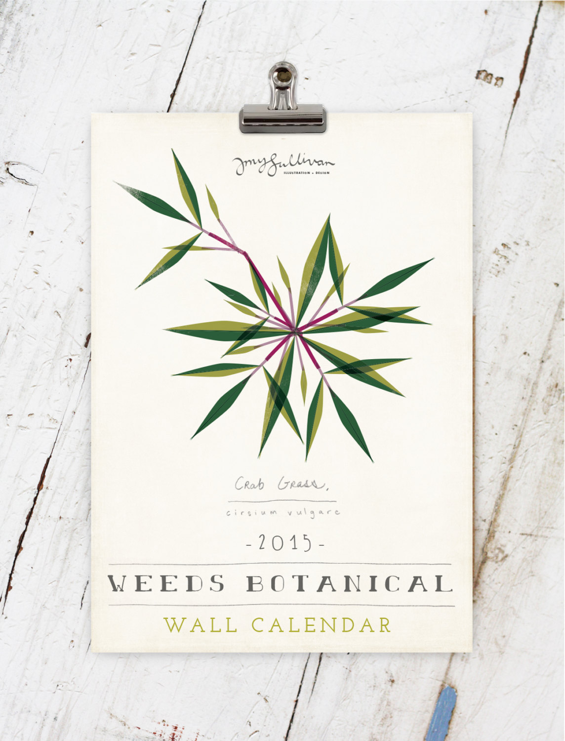 Amy Sullivan Weed Botanical Calendar (13 Midwest Made Calendars for 2015 - The Midwestival)