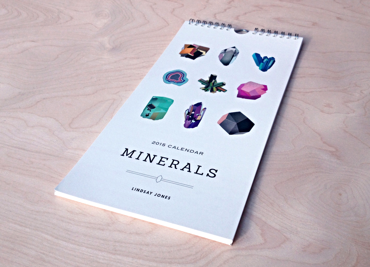 Minerals and Gems Calendar (13 Midwest Made Calendars for 2015 - The Midwestival)