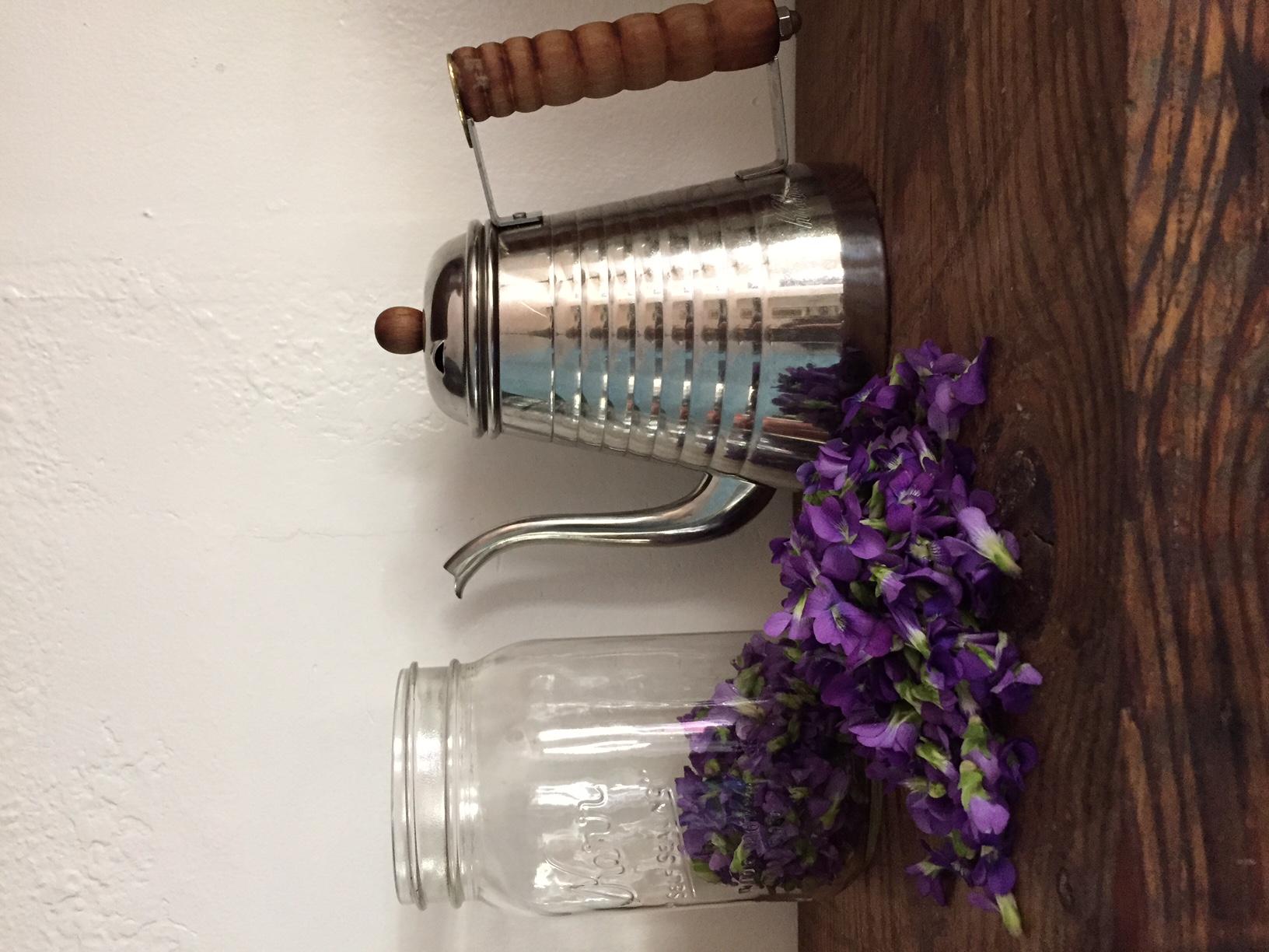 Violet cocktail