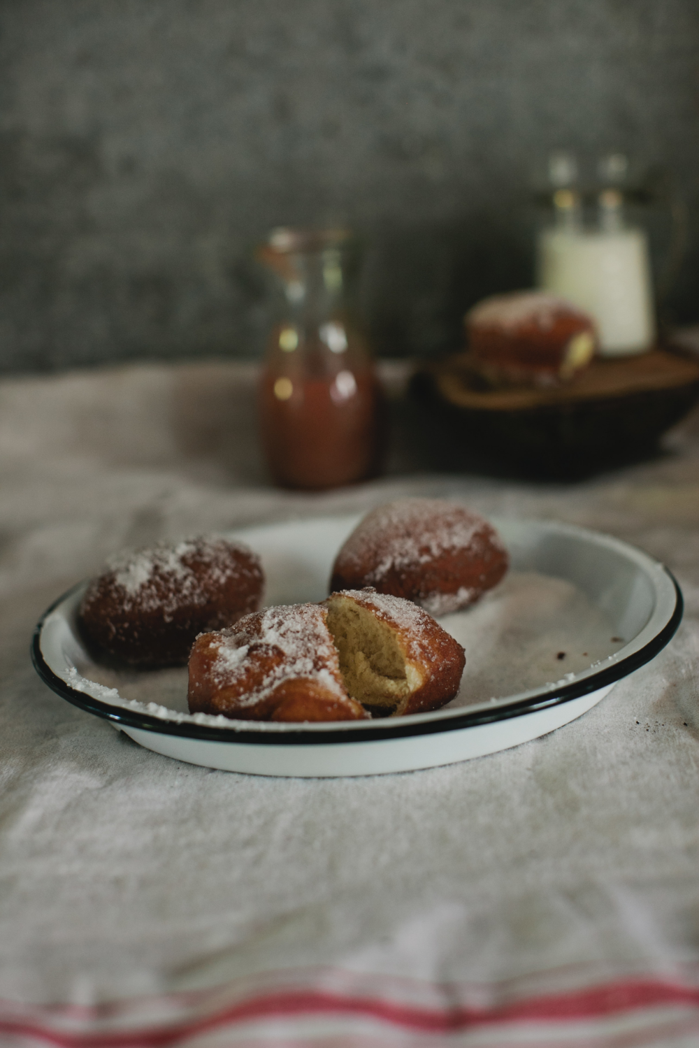 Rhubarb Custard Filled Donuts by The Midwestival