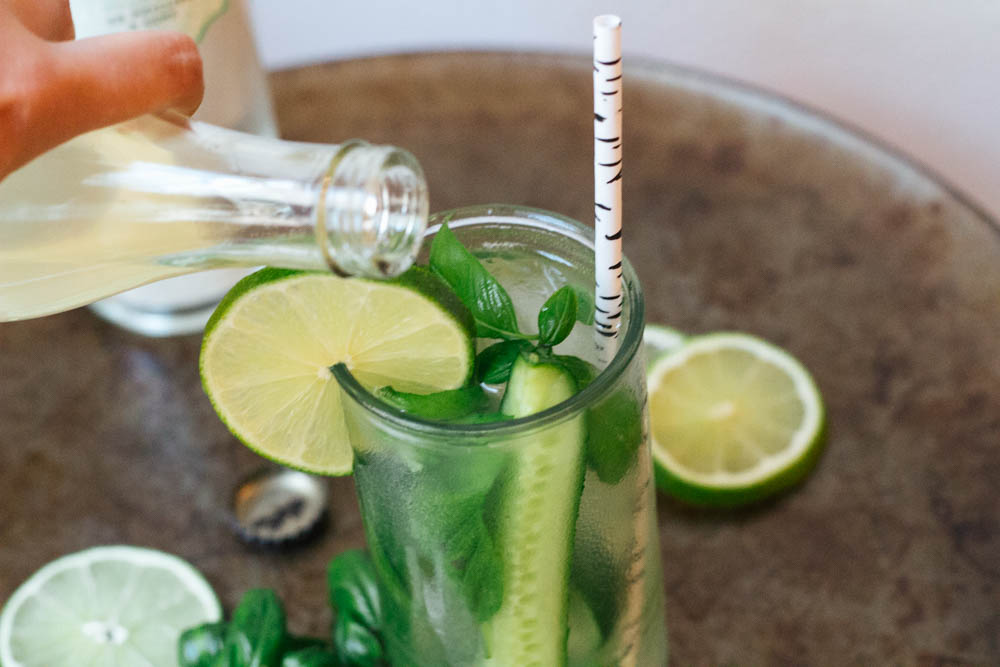 Cucumber Basil Moscow Mule via The Midwestival