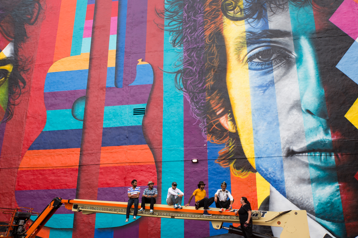 Bob Dylan Mural Minneapolis via The Midwestival