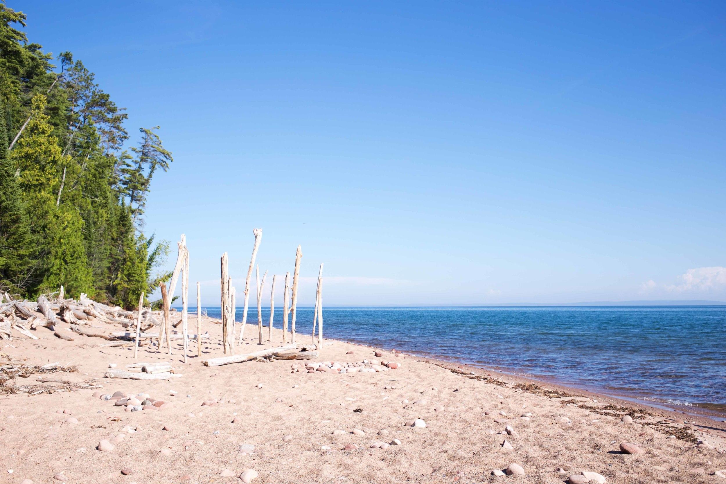 Sailing at Michigan Island - Lake Superior